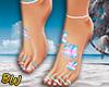 Flowers Feet Tattoo - B