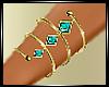 ~Teal_Gold Bracelet~