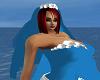blue/white veil