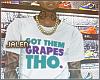 ز  Them Grapes. Tee