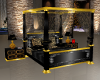 blk n gold bed w/poses