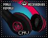 Red Headphones M/F