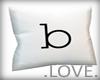.LOVE. Letter b Pillo