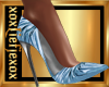 [L] Ice Blue Metal Heels