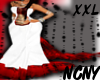 NCNY*WH/RED|LACE|WED XXL