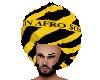 Caution Afro Retro Style
