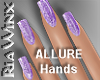 Wx:Glitter Nail Purple