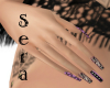 ~Sera~ Lilac Art Nails