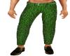 Green Brocade pants