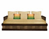 Wicker and Wood Couch