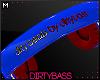 !B Blue Red Headphones M