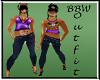 BBW Leana Outfit purple