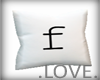 .LOVE. Letter f Pillo