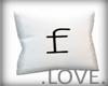.LOVE. Letter f Pillo