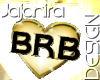 brb golden heart shining