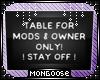 *M*| Kris' Table Rules