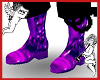 Purple Satin Boots