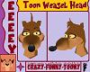 Toon Weasel Head [F]