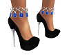Sapphire & Onyx Heels