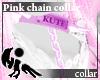 [Hie] Pink chain collar