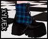 *Y* Blue Punk Boots