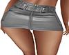 ~N~ Gray Leather Skirt