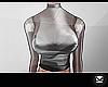 (Claire) Top Black PVC