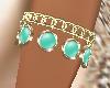 pulsera verde esmeralda