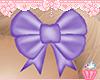 ! Purple Hair Bow