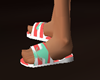 Peach Sailor Flip Flops