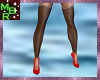 Stockings w Red pumps PF