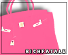 RF | Leather Tote -Peach