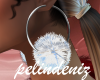 [P] White fur earrings