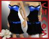 {C}Blue And Black Dress