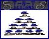 !TD Blue Poinsettia Tree