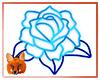 Blue Rose Neon Sign