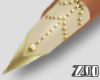 [zuv]nude gold nails