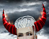 Red Horns on Fire