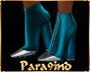 """P9)EVA""""Teal Boots silver"""