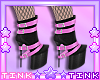 Black - Pink Boots