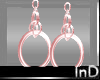 IN} Alma Pink Ice  Hoops