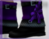 mm purple booties