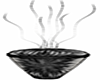 black silver vase sticks