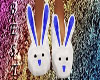 Bunny Slippers Dark Blue