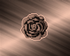 Rose Gold Rose Badge