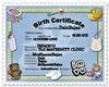 DabiBajan Birth/certf
