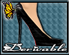(BFD) Black PVC Pumps