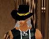 black hat gold band