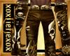 [L] SKULL Gold Pants M