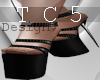 Black silver heels
